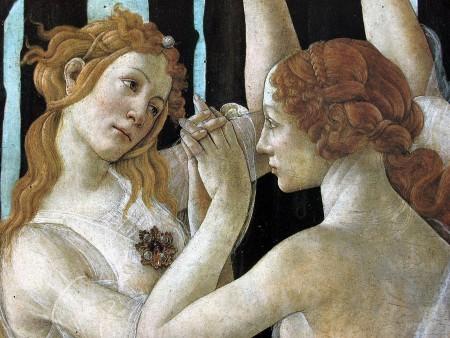 """""""Der Frühling"""" von Botticelli, Ausschnitt Ph: teladoiofirenze.it"""