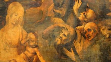 """Das Gemälde """"Die Anbetung der Könige aus dem Morgenland"""" (Öl und Tempera auf Holz) von Leonardo da Vinci Ph: interris.it"""