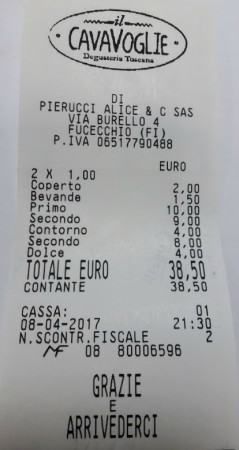 Cavavoglie degusteria toscana Fucecchio Bewertung