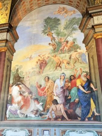 Fresko von Giovanni da San Giovanni im Palazzo Pitti