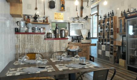 L'interno del ristorante Il Mattatoio a San Miniato