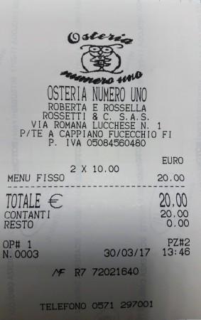 Osteria Numero Uno Fucecchio Bewertung Recensione Review Avis