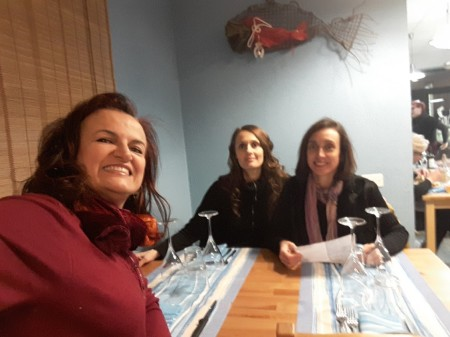 Io, Tiziana, e le mie amiche al Ristorante Il Favollo la sera del 9 febbraio 2017