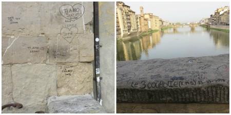 Ecritures sur Ponte Vecchio