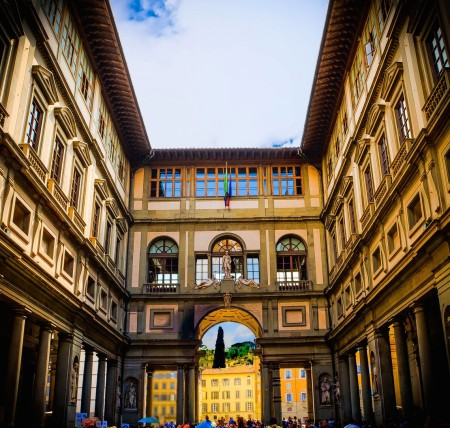 Uffizi Gallery inner yard museum