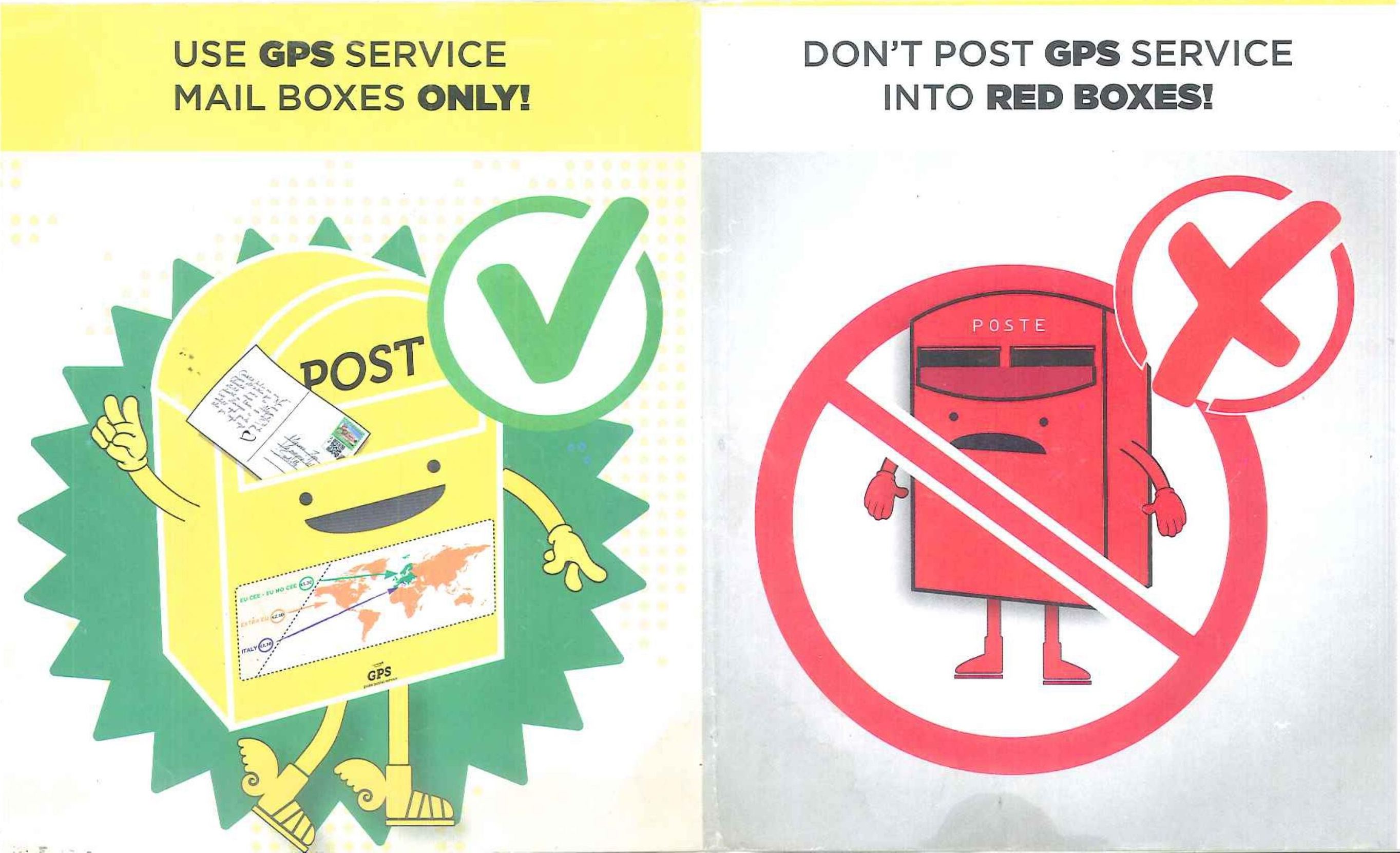 GPS post mail boxes