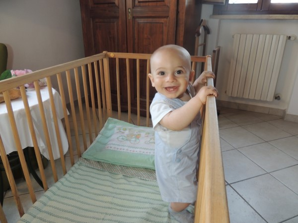 One of the baby beds at La Scuola di Furio