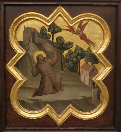 Saint Francis riceives the stigmata Taddeo Gaddi