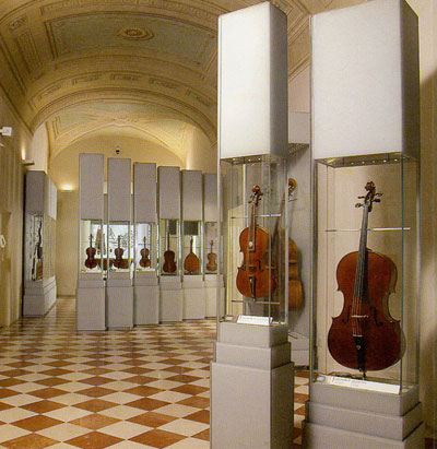 Museum of musical instruments at Accademia in Florence